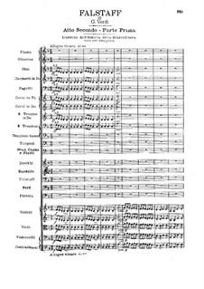 Falstaff: Akt II by Giuseppe Verdi