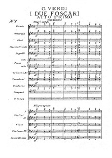 Die beiden Foscari: Akt I by Giuseppe Verdi