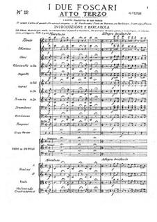 Die beiden Foscari: Akt III by Giuseppe Verdi