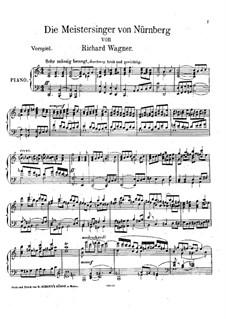 Fragmente: Vorspiel zum Akt I, für Klavier by Richard Wagner