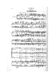 La reine Topaze: Akte II-III. Bearbeitung für Stimmen und Klavier by Victor Massé