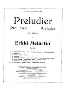 Präludium, Op.85: Vollständiger Satz by Erkki Melartin
