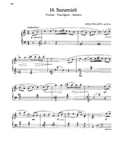 Traurigkeit, Op.92: Traurigkeit by Erkki Melartin