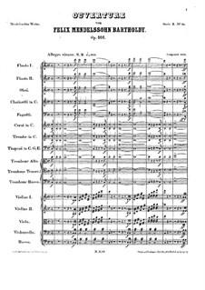 Trompeten-Ouvertüre, Op.101: Vollpartitur by Felix Mendelssohn-Bartholdy