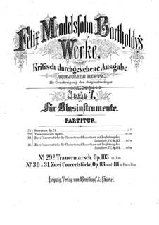 Trauermarsch , Op.103: Vollpartitur by Felix Mendelssohn-Bartholdy