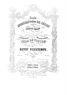 Sechs Salonstücke, Op.22: Nr.1 Morceaux brillant – Stimme by Henri Vieuxtemps