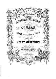 Sechs Salonstücke, Op.22: Nr.6 L'orage by Henri Vieuxtemps