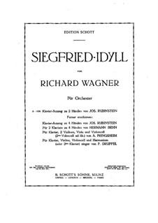 Siegfried-Idyll, WWV 103: Für Klavier by Richard Wagner