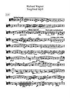 Siegfried-Idyll, WWV 103: Bratschenstimmen by Richard Wagner