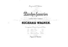 Brautlied: Für zwei Klaviere, achthändig – Stimmen für Klavier I by Richard Wagner