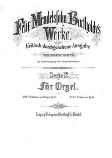 Drei Präludien und Fugen, Op.37: Vollsammlung by Felix Mendelssohn-Bartholdy