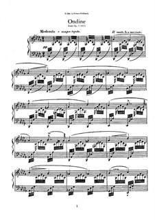 Ondine. Etüde in Des-Dur, Op.1: Ondine. Etüde in Des-Dur by Anton Rubinstein