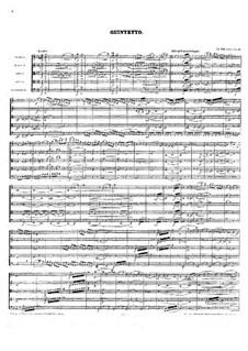 Quintett für Streicher in F-Dur, Op.59: Vollpartitur by Anton Rubinstein