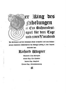 Götterdämmerung, WWV 86d: Vorspiel, für Stimmen und Klavier by Richard Wagner
