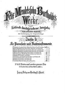 Klaviertrio Nr.1 in d-Moll, Op.49: Vollpartitur by Felix Mendelssohn-Bartholdy