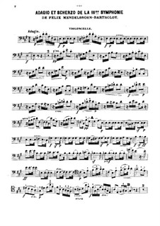 Sinfonie Nr.3 in a-Moll 'Schottische', Op.56: Adagio und Scherzo, für Klaviertrio – Cellostimme by Felix Mendelssohn-Bartholdy