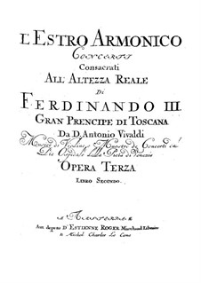Konzert für zwei Violinen und Streicher Nr.8 in a-Moll, RV 522: Violine I Solo Stimme by Antonio Vivaldi