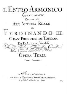 Konzert für zwei Violinen und Streicher Nr.8 in a-Moll, RV 522: Violinstimme IV by Antonio Vivaldi