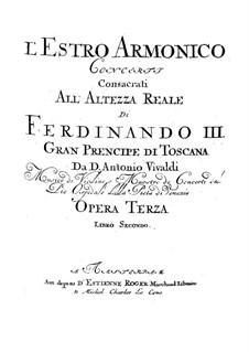 Konzert für zwei Violinen, Cello und Streicher Nr.11 in d-Moll, RV 565: Violine I Solo Stimme by Antonio Vivaldi