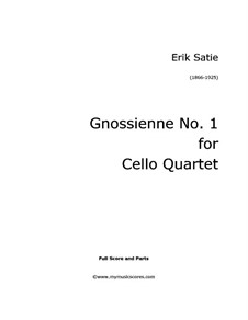 No.1: For cello quartet by Erik Satie