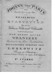 Johann von Paris: Für Streichquartett – Stimmen by Adrien Boieldieu