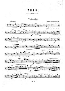 Klaviertrio Nr.3 in B-Dur, Op.52: Cellostimme by Anton Rubinstein