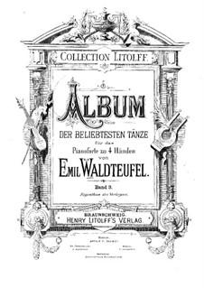 Estudiantina, Op.191: Für Klavier, vierhändig by Emil Waldteufel