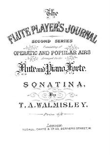 Sonatine für Flöte und Klavier in g-Moll: Partitur by Thomas Attwood Walmisley