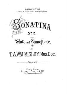 Sonatine für Flöte und Klavier Nr.2 in G-Dur: Partitur by Thomas Attwood Walmisley