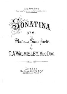 Sonatine für Flöte und Klavier Nr.2 in G-Dur: Solostimme by Thomas Attwood Walmisley