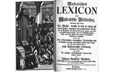 Musicalisches Lexicon oder Musicalische Bibliothec: Teil I (Buchstabe A) by Johann Gottfried Walther