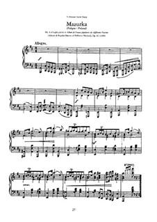 Sieben Nationaltänze, Op.82: Nr.4 Mazurka by Anton Rubinstein