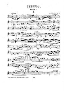 Streichsextett in D-Dur, Op.97: Stimmen by Anton Rubinstein