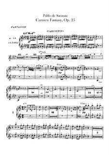 Fantasie über Themen aus 'Carmen' von Bizet, Op.25: Klarinettenstimme by Pablo de Sarasate