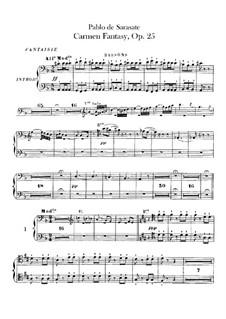 Fantasie über Themen aus 'Carmen' von Bizet, Op.25: Fagottstimme by Pablo de Sarasate