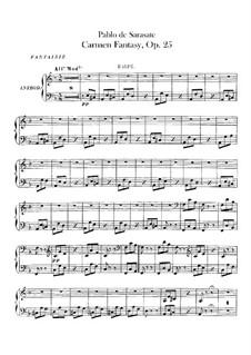 Fantasie über Themen aus 'Carmen' von Bizet, Op.25: Harfestimme by Pablo de Sarasate
