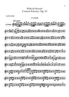 Fantasie über Themen aus 'Carmen' von Bizet, Op.25: Violinstimmen I-II by Pablo de Sarasate