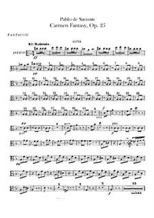 Fantasie über Themen aus 'Carmen' von Bizet, Op.25: Bratschenstimme by Pablo de Sarasate