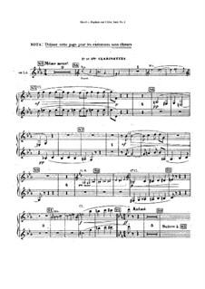 Daphnis und Chloe. Suite Nr.1, M.57a: Klarinettenstimmen (Stimme zum Ersatz des Chors) by Maurice Ravel