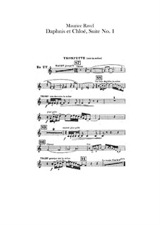 Daphnis und Chloe. Suite Nr.1, M.57a: Trompetestimmen (Stimme zum Ersatz des Chors) by Maurice Ravel