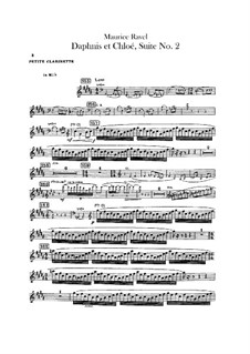 Daphnis und Chloe. Suite Nr.2, M.57b: Kleine Klarinettenstimme by Maurice Ravel