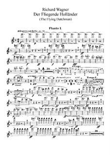 Vollständiger Oper: Flötenstimme by Richard Wagner