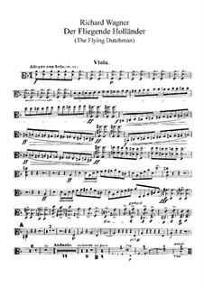 Vollständiger Oper: Bratschenstimmen by Richard Wagner