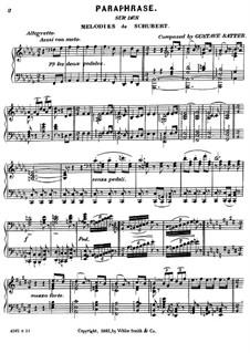 Paraphrase über Themen von Schubert: Paraphrase über Themen von Schubert by Gustave Satter