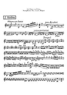Sinfonie Nr.1 in C-Dur, J.50 Op.19: Violinstimme II by Carl Maria von Weber
