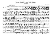 Ouvertüre zu 'Zehn Mädchen und kein Mann': Für Klavier, vierhändig by Franz von Suppé