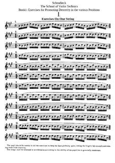 The School of Violin Technics: Buch I by Henry Schradieck
