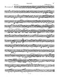 Drei Sonaten für Cello und Basso Continuo, Op.43: Basso Continuo Stimme by Bernhard Romberg