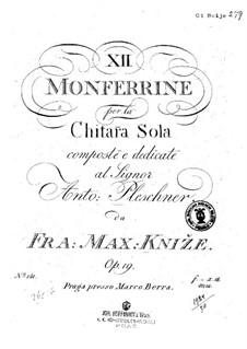 Twelve Monferrine, Op.19: Alle Stücke by Frantisek Max Knjze