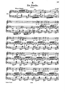Die Forelle, D.550 Op.32: Des-Dur by Franz Schubert